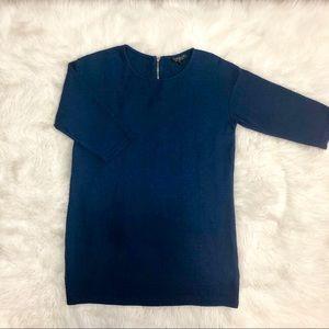 •TopShop• 3/4 sleeve zipper back shirt